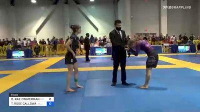 DAKOTA RAE ZIMMERMAN vs THERESA ROSE CALLOWAY 2021 American National IBJJF Jiu-Jitsu Championship