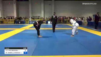 DANYA SANCHEZ-PETROSYAN vs MALIBU ISABELLA ROCCO 2021 American National IBJJF Jiu-Jitsu Championship