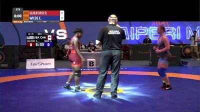 76 kg Bronze - Dymond Guilford, USA vs Erica Wiebe, CAN