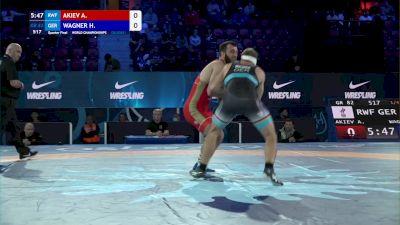 82 kg 1/4 Final - Adlan Akiev, Russian Wrestling Federation vs Hannes Wagner, Germany