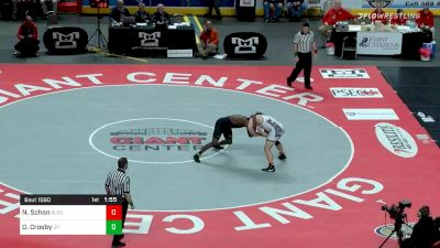 220 lbs Final - Nate Schon, Selinsgrove vs Dorian Crosby, Cathedral Prep