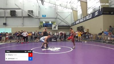 74 kg Round Of 128 - Elijah Cleary, TMWC/Ohio RTC vs Brett Johnson, Knights Wrestling Club