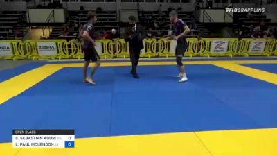 CHARLES SEBASTIAN ADORIAN vs LEWIS PAUL MCLENDON 2021 Pan IBJJF Jiu-Jitsu No-Gi Championship