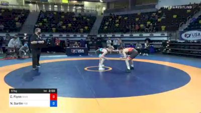 57 kg Consolation - Cooper Flynn, Tennessee vs Noah Surtin, Tiger Style Wrestling Club
