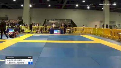 MAYLEAN ALTA JOHNSON vs MELISSA ESMIRIA ROMERO 2021 American National IBJJF Jiu-Jitsu Championship
