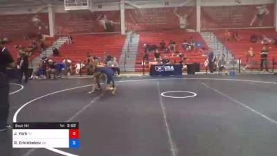 67 kg Consolation - Jaylen York, Texas vs Ratbek Erkinbekov, Washington