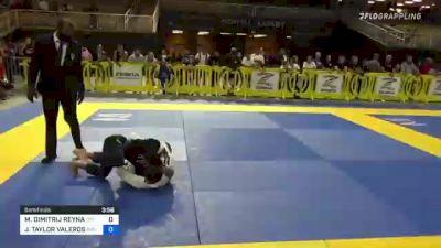 MAXIMUS DIMITRIJ REYNA vs JERMAINE TAYLOR VALEROS 2021 Pan Kids Jiu-Jitsu IBJJF Championship
