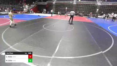 73 lbs 2nd Place - Mason Ekle, Team Alaska vs Caleb Klotz, Kremmling Lil Mustangs