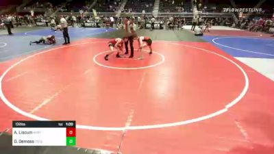 132 lbs Consi Of 8 #2 - Aaron Liscum, North Montana WC vs Dustin Demoss, Csfg