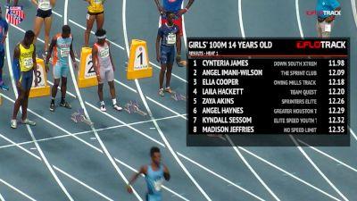 Boys' 100m, Final - Age 14