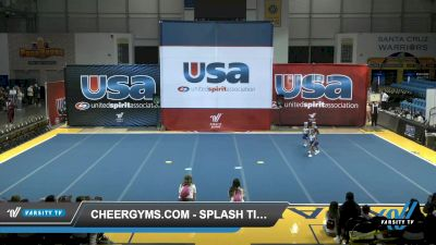 Cheergyms.com - Splash Time [2021 L1 Tiny - Novice - Restrictions - D2 Day 1] 2021 USA Reach the Beach Spirit Competition