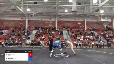 70 kg Prelims - Andrew Garr, New York City RTC vs Manzona Bryant, Lehigh Valley Wrestling Club
