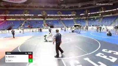 152 lbs 3rd Place - Sam Beckett, Pennsylvania vs Zane Cox, Virginia