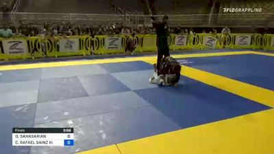 DANIEL SANASARIAN vs CARLOS RAFAEL SAINZ III 2021 Pan Kids Jiu-Jitsu IBJJF Championship