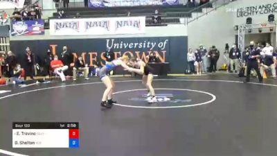 101 lbs Prelims - Esthella Trevino, Southern Oregon vs Destiny Shelton, Indiana Tech
