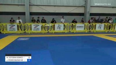 MAURICIO ESTEBAN GOMEZ vs JOAO PEDRO BUENO MENDES 2021 Pan IBJJF Jiu-Jitsu No-Gi Championship