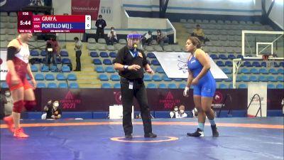 76 kg Rr Rnd 2 - Adeline Maria Gray, United States vs Josselyn Tatiana Portillo Mejia, El Salvador
