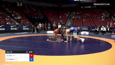 92 kg Quarters - J'den Cox, Titan Mercury Wrestling Club vs Drew Foster, Panther Wrestling Club RTC
