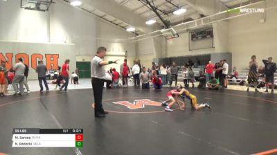 55 lbs Consolation - Michael Santos, Bandits vs Natalie Radecki, Delaware