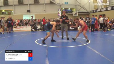 86 kg Round Of 64 - Max Wohlabaugh, Clarion RTC vs Jonathan Loew, Finger Lakes RTC