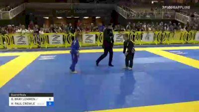 GAVAN BRAY LEMMEN vs HUNTER PAUL CROWLEY 2021 Pan Kids Jiu-Jitsu IBJJF Championship