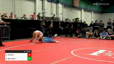 132 lbs Semifinal - Zeke Seltzer, IN vs Nic Bouzakis, PA