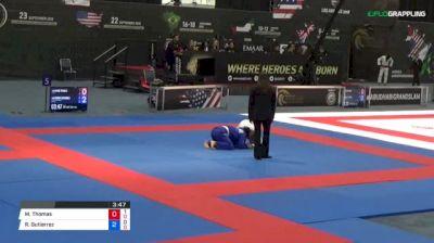 Mark Thomas vs Ruben Gutierrez 2018 Abu Dhabi Grand Slam Los Angeles