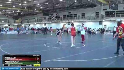 127 lbs Round 5 - Ryen Allen, Michigan Revolution Girls vs Ayelen Duran, Warren Wrestling Academy