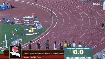 High School Boys' 800m Elite, Finals 1