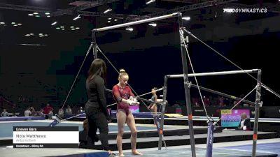 Nola Matthews - Bars, Airborne Gym - 2021 GK US Classic & Hopes Championship