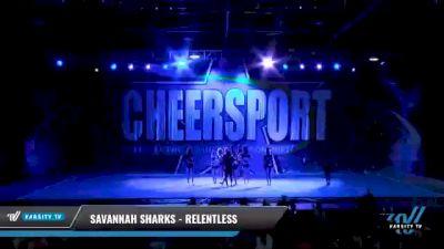 Savannah Sharks - Relentless [2021 L6 Senior - XSmall Day 1] 2021 CHEERSPORT National Cheerleading Championship