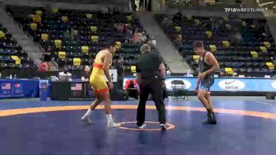 74 kg Prelims - Anthony Valencia, Sunkist Kids Wrestling Club vs Quentin Perez, Navy-Marine Corps Mat Club