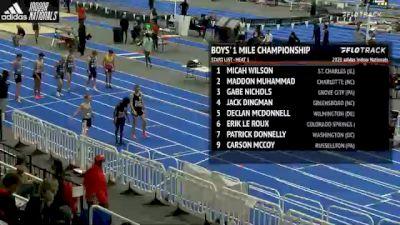 High School Boys' Mile Championship, Heat 1