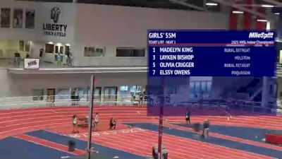 High School Girls' 55m, Finals 1