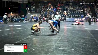 157 lbs Quarterfinal - Hunter Willits, Oregon St. vs Luke Weber, North Dakota State