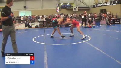 70 kg Round Of 128 - Joshua Finesilver, Blue Blood Wrestling Club vs Wyatt Sheets, Cowboy RTC/TMWC