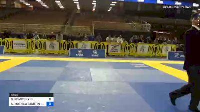 GREGG KOMITSKY vs AARON MATHEW MARTIN 2020 World Master IBJJF Jiu-Jitsu Championship
