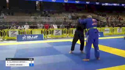 NATHANIEL CLARENCE BRYANT vs RICKY JAMES SAVAGE 2021 Pan Jiu-Jitsu IBJJF Championship