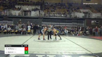 285 lbs 3rd Place - Eijah Anthony, Blair Academy vs Liam Dietrich, Trinity-pawling School