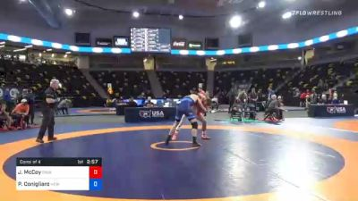 74 kg Consolation - Justin McCoy, Cavalier Wrestling Club vs Philip Conigliaro, New England Regional Training Center