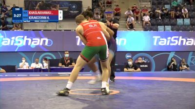 92 kg 1/2 Final - Abubakar Khaslakhanau, Belarus vs Harutyun Kirakosyan, Armenia