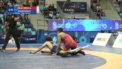 92 kg Final 3-5 - Ali Ali Mohammad Jalaliabdolvand, Iran vs Harutyun Kirakosyan, Armenia