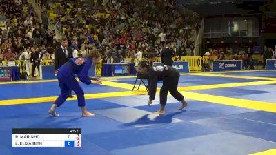 RENATA MARINHO MOREIRA vs LAURAH ELIZABETH HALLOCK 2019 World Jiu-Jitsu IBJJF Championship