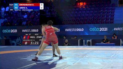57 kg 1/4 Final - Davaachimeg Erkhembayar, Mongolia vs Anshu Anshu, India
