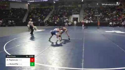 141 lbs Semifinal - A.j. Pagliarulo, United State Coast Guard Academy vs Jimmy McAuliffe, Elmhurst University