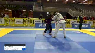RODRIGO URBANO vs ROBERT SHAW GRAHAM 2020 World Master IBJJF Jiu-Jitsu Championship