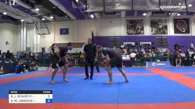 BRIAN J. BEAURY II vs AARON M. JOHNSON 2019 Pan IBJJF Jiu-Jitsu No-Gi Championship