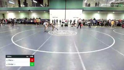 132 lbs Consi Of 16 #1 - Jason Mara, ID vs Jeremy Ginter, OH