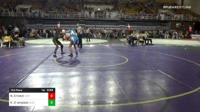 113 lbs 3rd Place - Nicole Emmet, Northfield Mount Hermon School - Girls vs Angela Osei-ampadu, Deerfield Academy - Girls