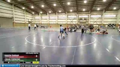 150 lbs 5th Place Match - Cesar Camacho, Gold Rush Wrestling Academy vs Mason Farrar, Gold Rush Wrestling Academy